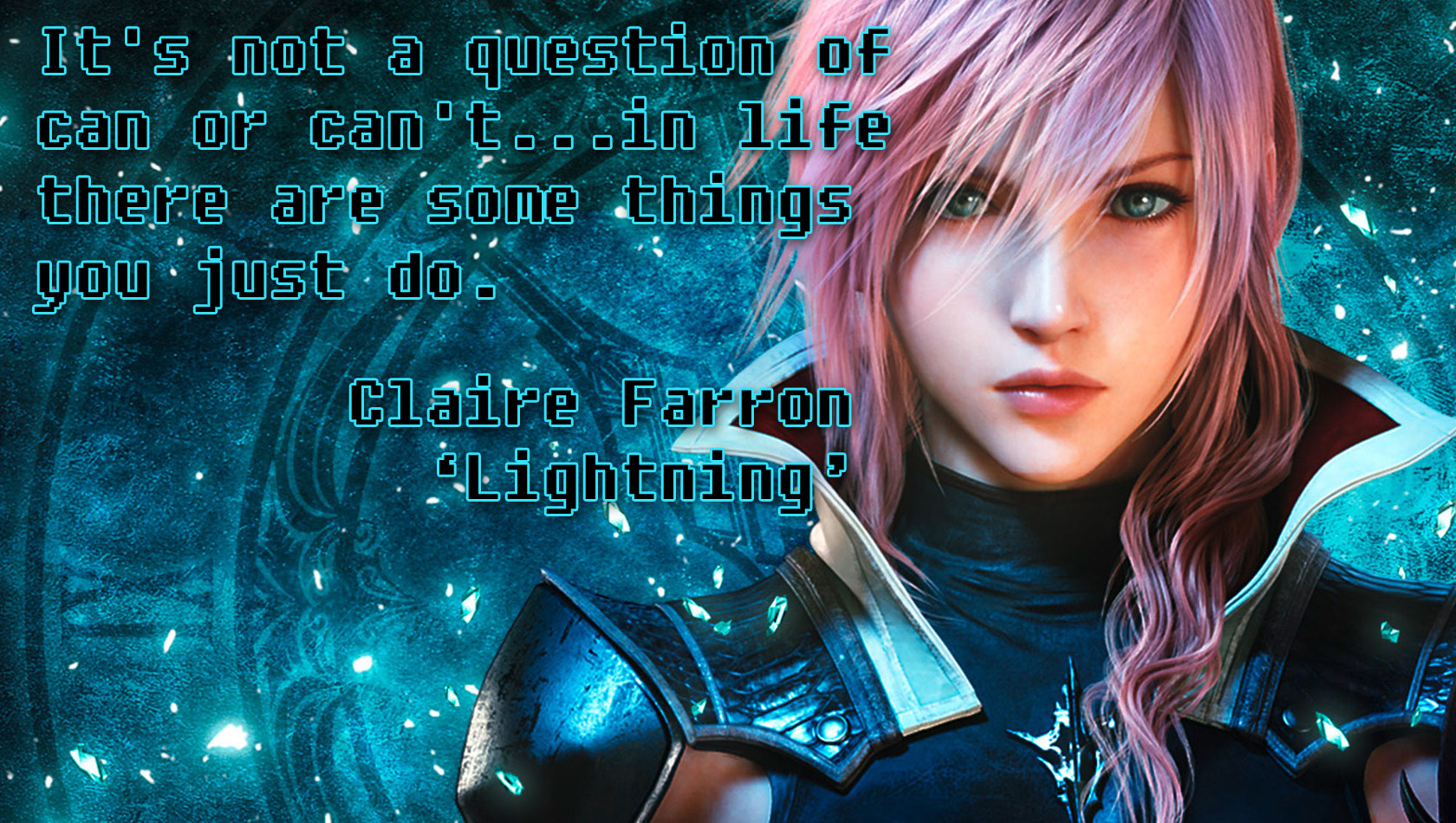 Lightning Love Quote Lightning Final Fantasy Quote