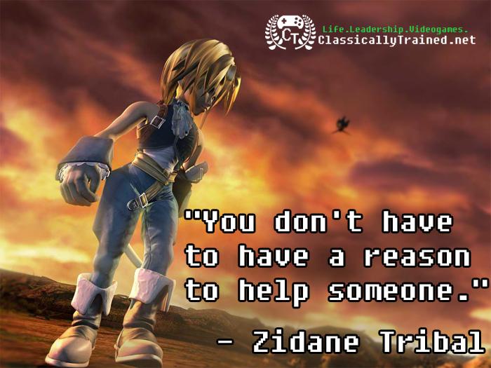 ff9 zidane final fantasy quote video game help
