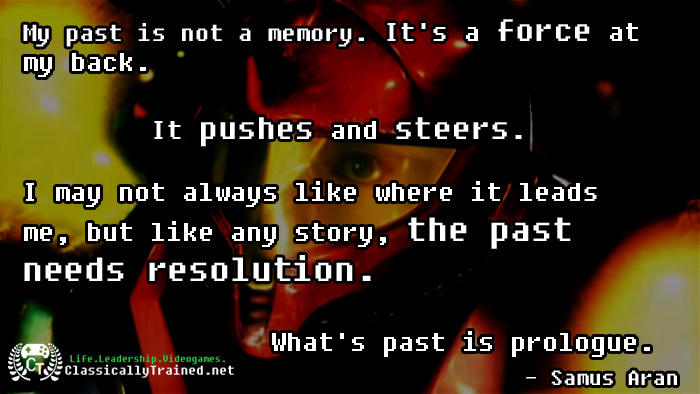 video game quotes metroid on the past